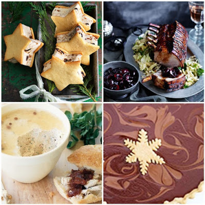 christmas recipes ice cream pudding salted caramel tart chocolate roast pork rack turkey pate