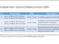 Jadwal Pelaksanaan USBN 2017