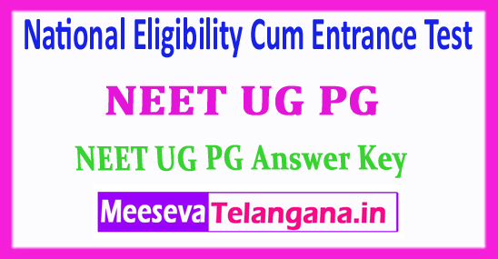 NEET National Eligibility Cum Entrance Test 2018 NEET Answer Key Download