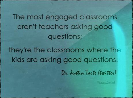 Leerlingen stellen vragen