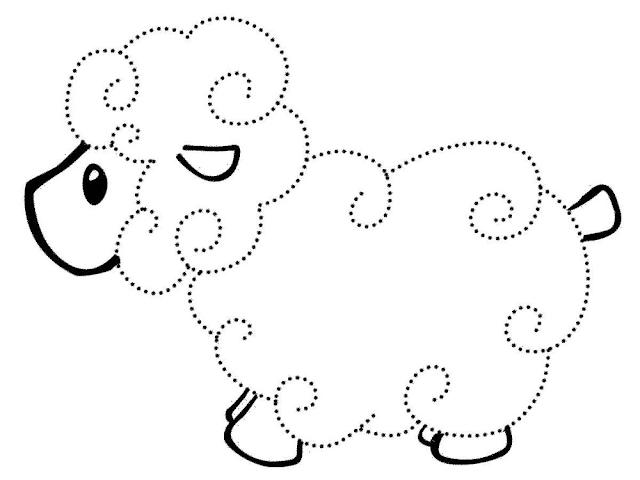 Gambar Mewarnai Domba - 7