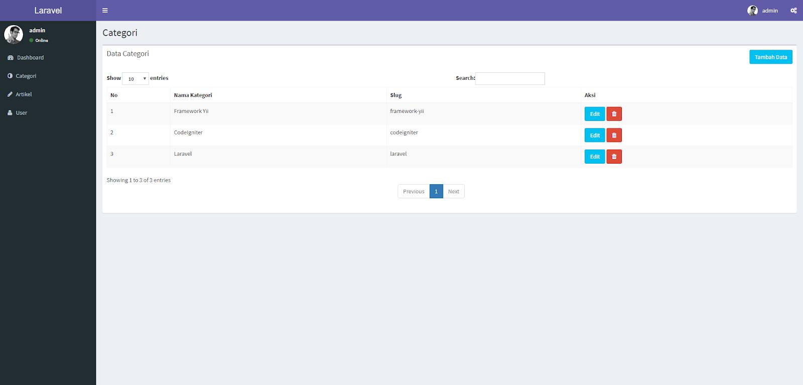 Program PHP Aplikasi Blog dengan Laravel, Mysql dan Bootstrap