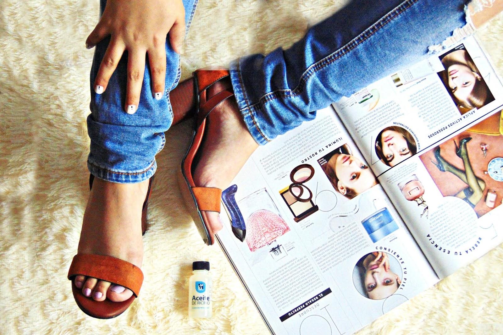 aceite ricino para manos y pies