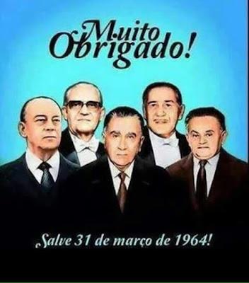 Somos eternamente gratos há esses homens de honra. Esses sim foram os verdadeiros presidentes do Brasil - Salve 31 de março