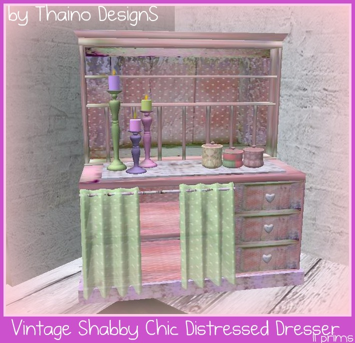 Vaisselier Shabby Chic: Thaino Designs: Vintage Shabby Chic Distressed Dresser
