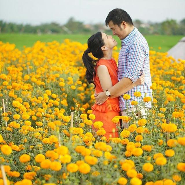 Ladang Bunga Marigold adalah Tempat Romantis di Bali