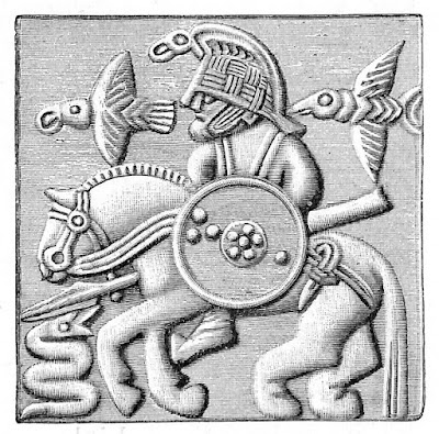 Plate from Vendel era helmet interpreted as Odin