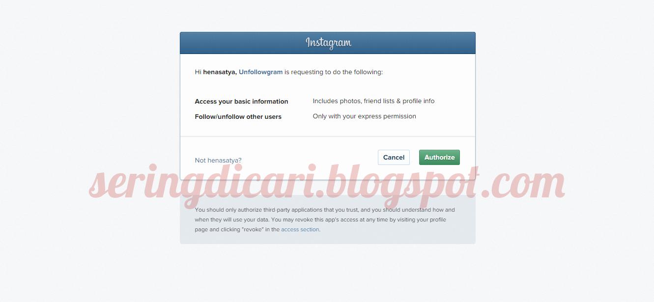 Cara mudah melihat unfollowers di instagram