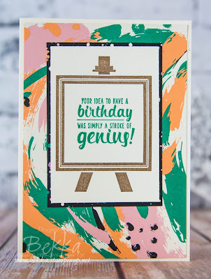 A Bright Birthday Card featuring the Painters Pallet Stamp Set from Stampin' Up! UK