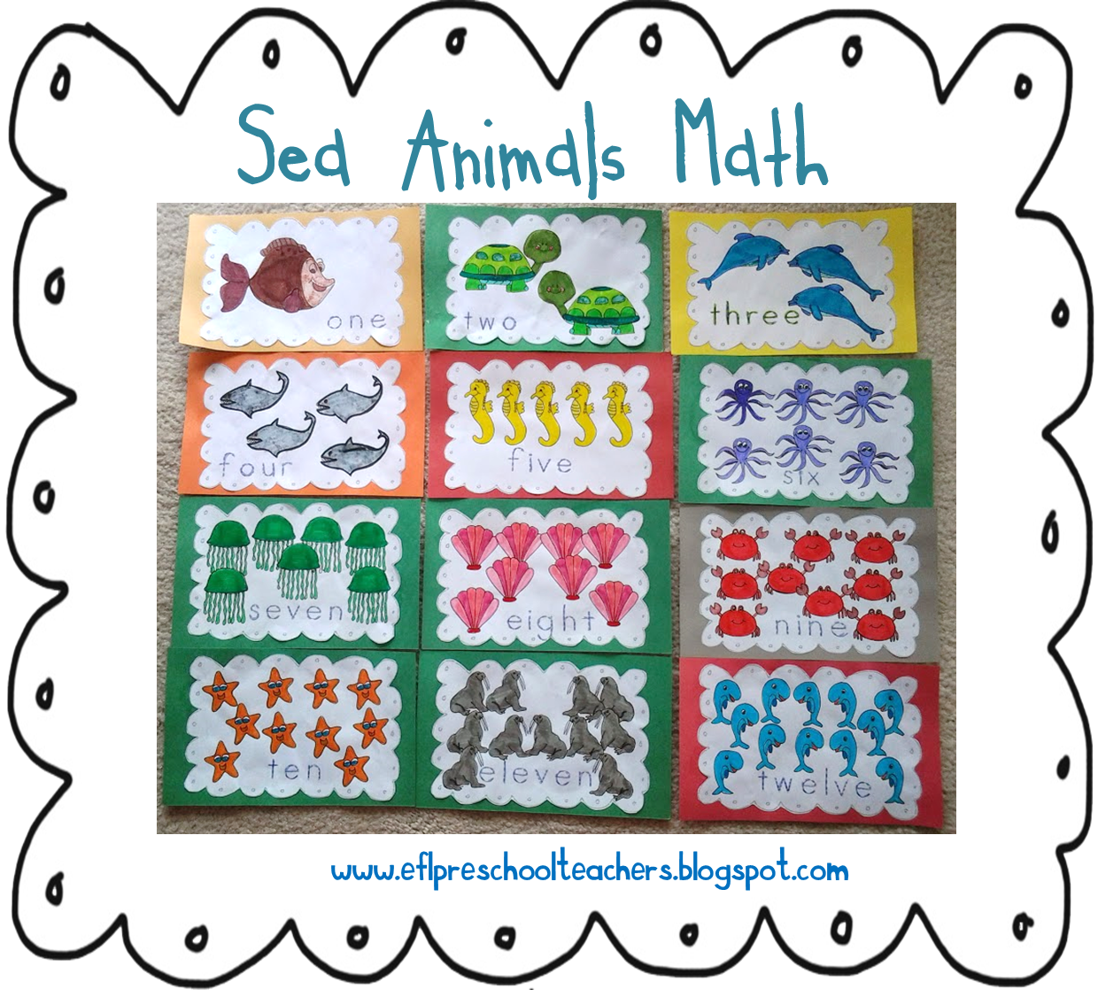 Esl Efl Preschool Teachers Sea Animals Ocean Theme For