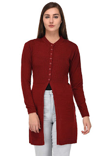 Women Winter Wear Woolen Cardigan