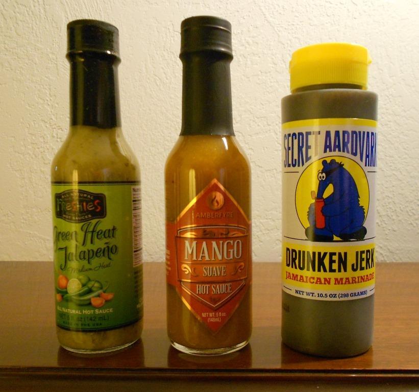 Fuego Box December 2016 hot sauces.jpeg