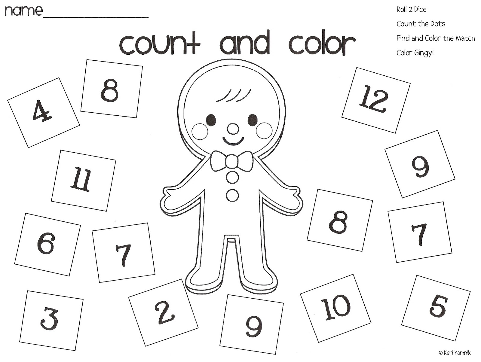 Christmas Counting Worksheet Sh