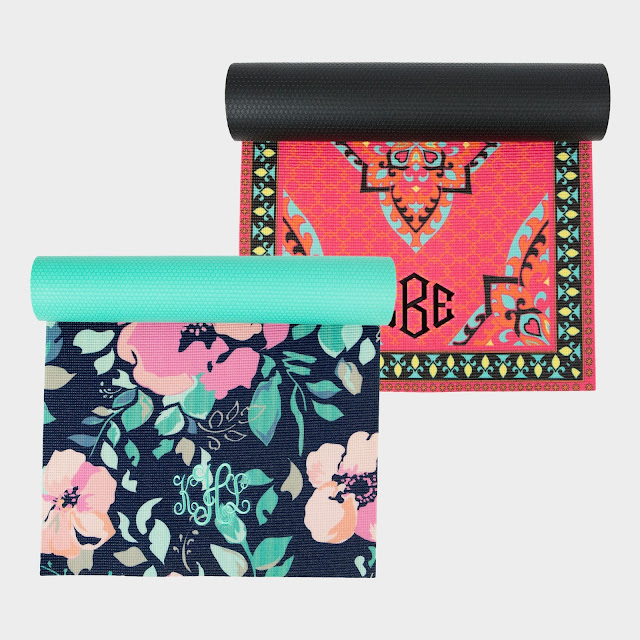 marleylilly, monograms, cute yoga mats