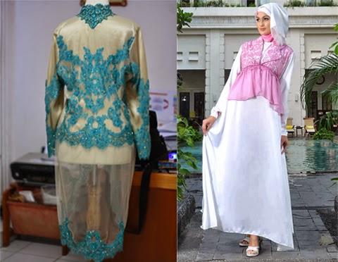model baju muslim brokat orang gemuk