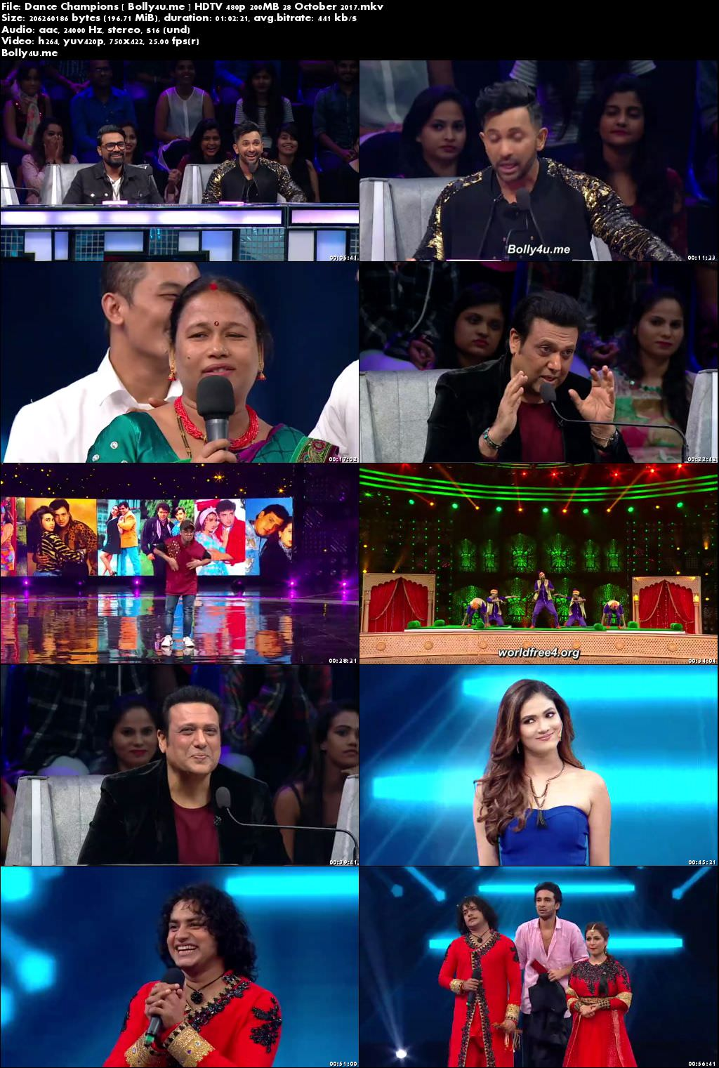 Dance Champions HDTV 480p 200MB 29 October 2017 Download