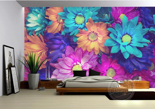 tranh tường hoa cho phòng ngủ bình dương