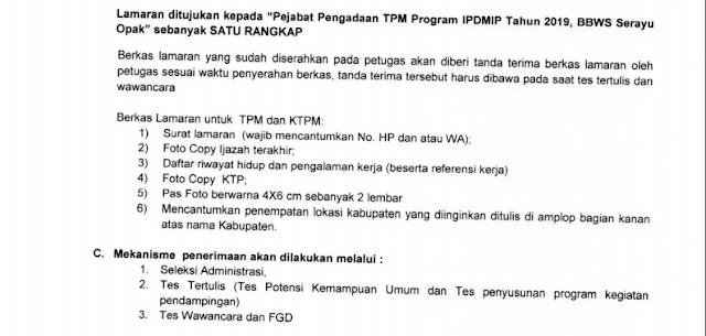 Lowongan Tenaga Pendamping IPDMIP