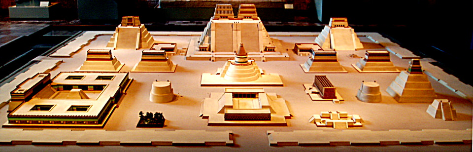 Η Τενοτστιτλάνήταν ήταν η πόλη των Αζτέκων που βρισκόταν εκεί που βρίσκεται η σύγχρονη πόλη του Μεξικού. Αυτό το μοντέλο βρίσκεται στο Εθνικό Ανθρωπολογικό Μουσείο, στο Μεξικό.