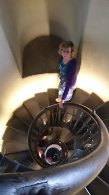The staircase from above at the Monument, London