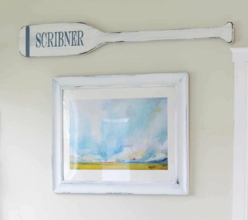 Personalized Custom Name Oar Plaque Wall Paddle