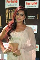 Prajna Actress in backless Cream Choli and transparent saree at IIFA Utsavam Awards 2017 0037.JPG