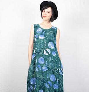 Model gaun batik anak muda tanpa lengan