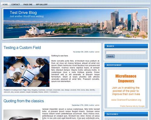 Free Wordpress Theme - WP Travel Theme 2