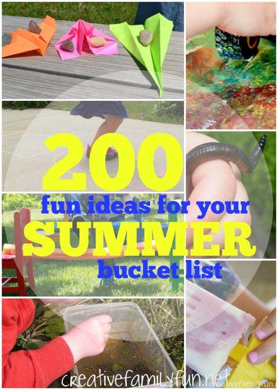 200 Summer Bucket List Ideas