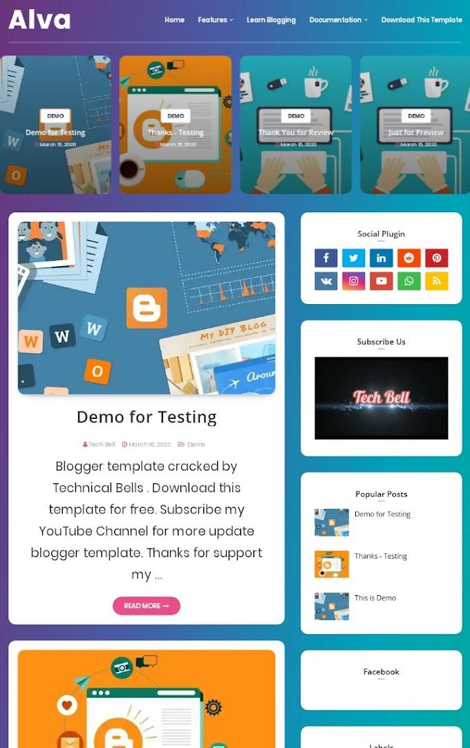 Alva Premium Blogger Template