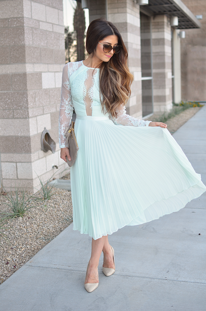 Perfect Wedding Guest Dress   Minty Lace