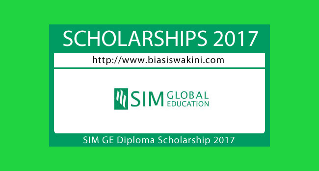SIM Global Education Diploma Scholarship 2017