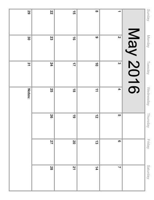 May 2016 Blank Calendar, May 2016 Printable Calendar, May 2016 Calendar Printable, May 2016 Calendar with Holidays