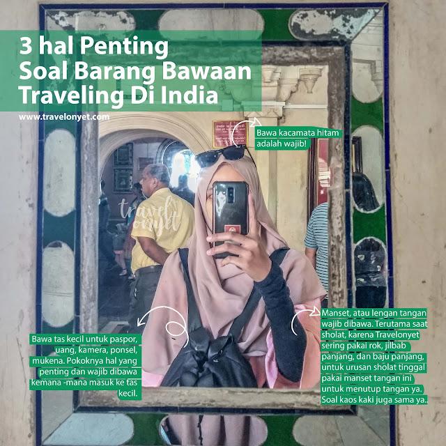 Barang Bawaan 7 Hari Ke India (Girl Only)