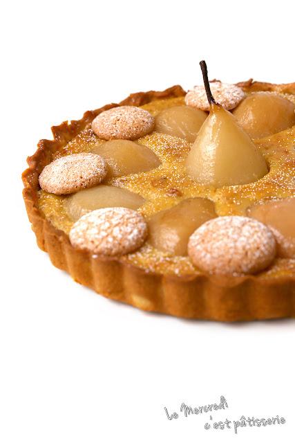 Tarte Bourdaloue, ou tarte amandine aux poires, de Lenôtre