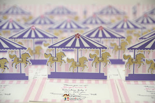 birthday party carousel invites