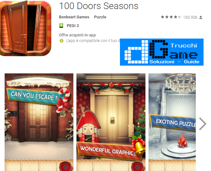 Soluzioni 100 Doors Seasons livello 91-92-93-94-95-96-97-98-99-100 | Trucchi e Walkthrough level