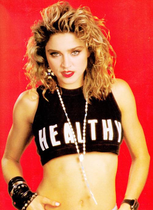 Madonna HEALTHY shirt.  PYGOD.COM