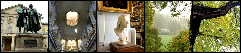 Goethe und Anna Amalia Bibliothek in Weimar.