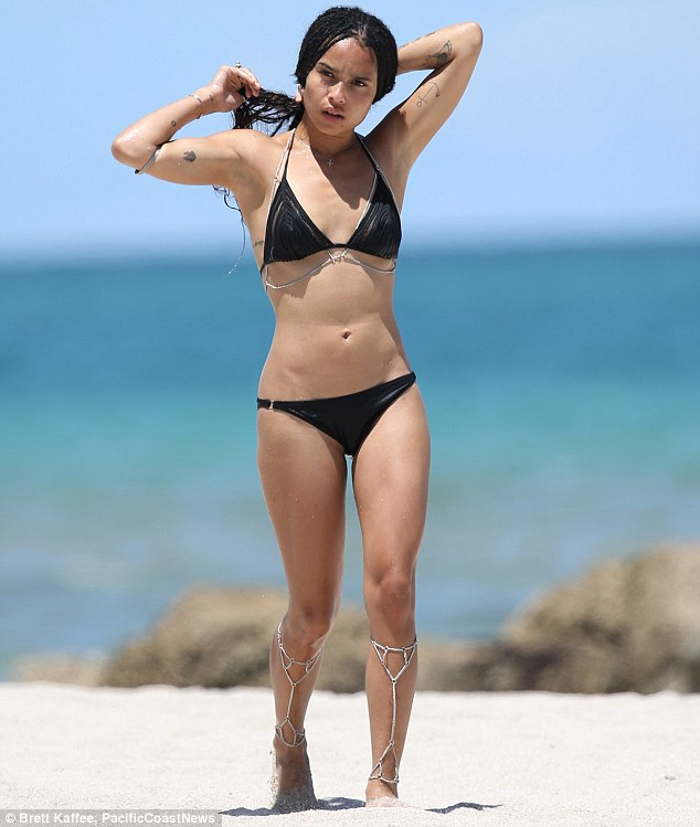 Zoe Kravitz in a La Perla bikini on Miami beach
