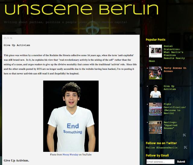 http://unsceneberlin.blogspot.de/2016/09/give-up-activism.html