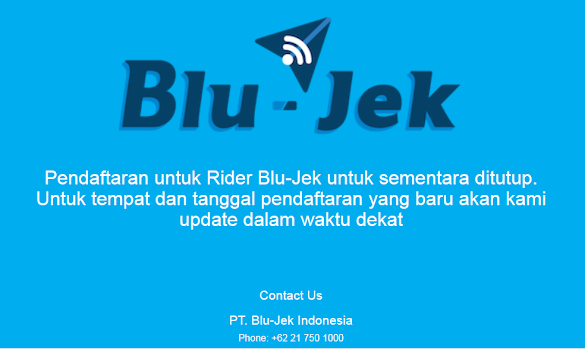 Prosedur Cara Daftar Blu-Jek - www.blu-jek.com