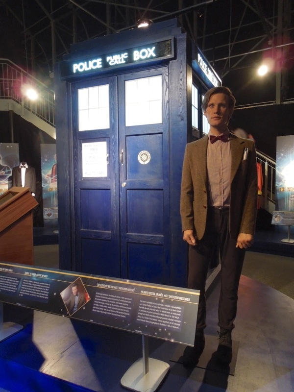 Matt Smith 11th Doctor waxwork TARDIS