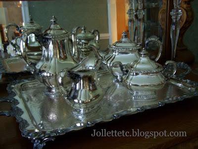 Helen Killeen Parker silver tea set  https://jollettetc.blogspot.com