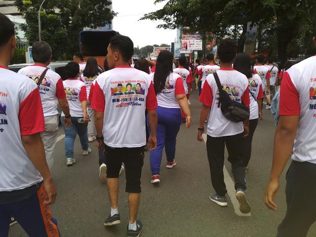 Taruna Merah Putih Kirab Kebangsaan Mem-Pancasilakan Kota Medan
