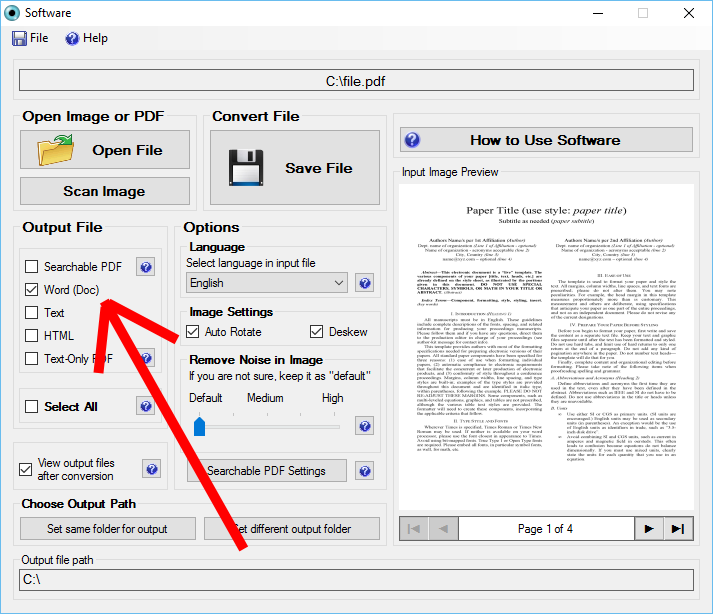 png image to word converter software free