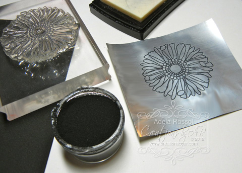 Creations By Ar Dry And Heat Embossing On Metal Tutorial