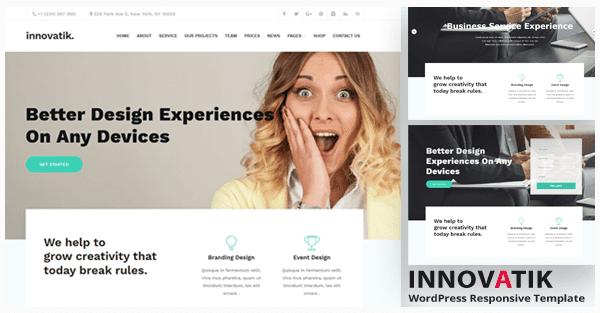تحميل قالب Innovatik v1.2 مدونة ورد برس