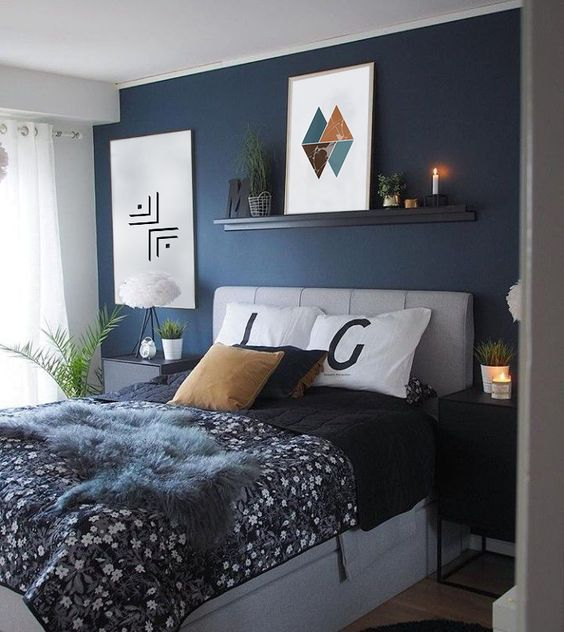 56 Mens Blue Bedroom Ideas