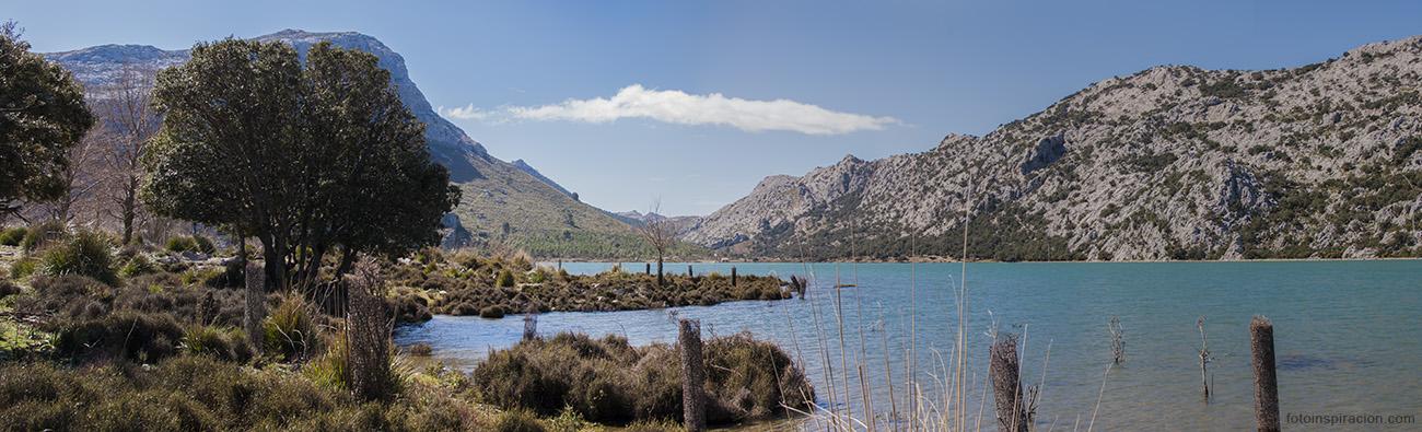 Embalse Cúber, situado en el termino municipal de Escorca, Mallorca.